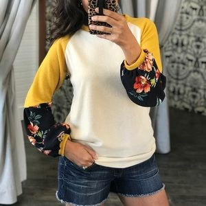 SOMETHING ABOUT IT MUSTARD/IVORY TOP